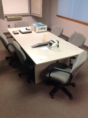 Conference Table, (6) Chairs