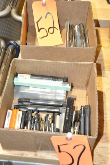 Lot-Taps and Reamers in (2) Boxes