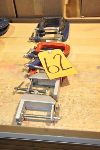Lot-(9) Asst\'d Clamps in (1) Row