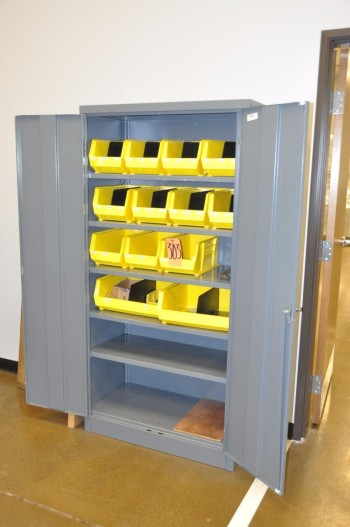 2-Door Cabinet with Tool Steel Contents