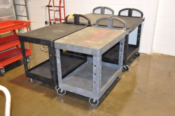 Lot-(4) Shop Carts