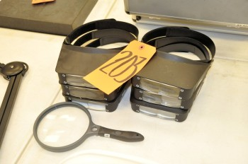 Lot-(6) Magnifying Visors