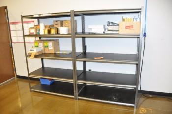 Lot-(2) Sections Shelving