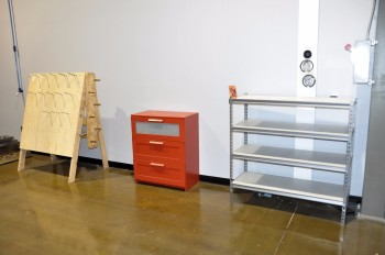 Lot-Section Shelving, Bookcase and A-Frame Stand