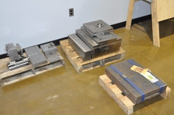 Lot-Steel Mold Components on (3) Pallets and Steel Stock on (1) Pallet