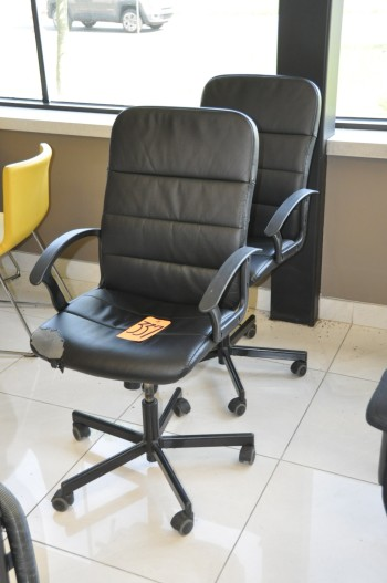 Lot-(2) High Back Swivel Office Chairs, Black