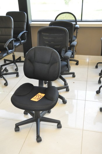 Lot-(4) Asst'd Swivel Office Chairs, Black
