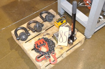 Lot-Die Rings, (2) Lifting Magnets and (1) Chain