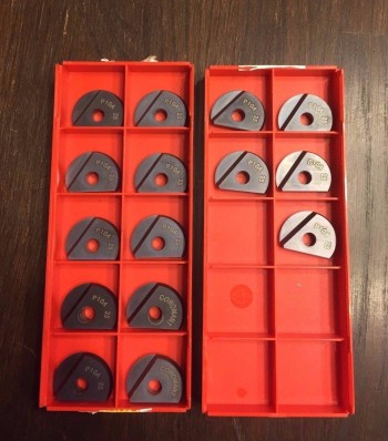 15 Pieces of Brand New Sandvik 25mm Ball Nose Inserts Part # R216F-2560E-L P10A