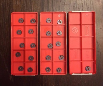 21 Pieces of Brand New Sandvik 8mm Ball Nose Inserts Part # R216F-0824E-L P10A