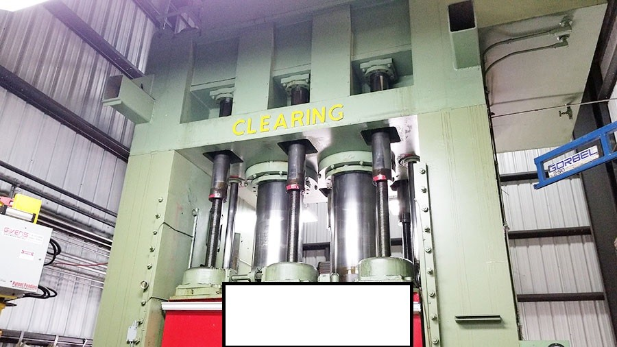 2,000 TONS USED CLEARING DOUBLE OR SINGLE ACTING HYDRAULIC PRESS, MDL. DH-1500-500-108