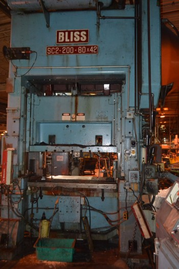 Bliss SC2-200-60x42 200 Ton Straight Side Double Crank Press