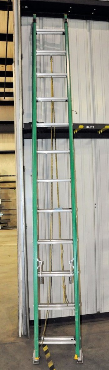 WERNER 24\' Fiberglass Extension Ladder