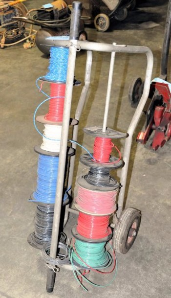 Portable Cart with Wire Spools