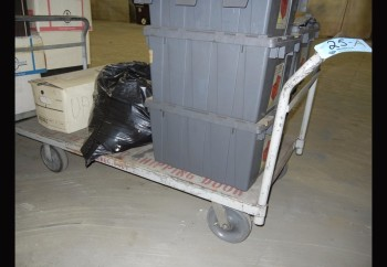 Lot-(2) 5\' Flat Bed Carts