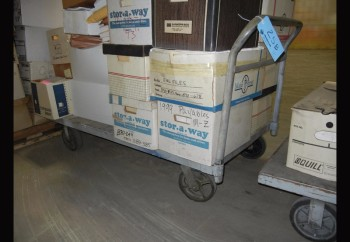Lot-(3) 5\' Flat Bed Carts