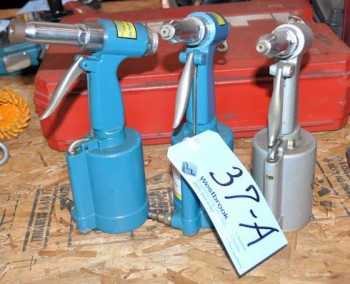 Lot-(3) Pneumatic Rivet Guns
