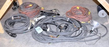 Lot-Electrical Cords Under (1) Table