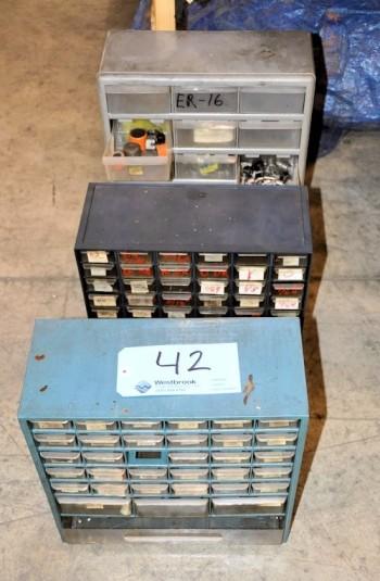 Lot-(3) Service Bin Cabinets