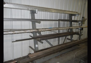 Lot-Aluminum and Steel Stock on (3) Racks, (Racks Not Included)
