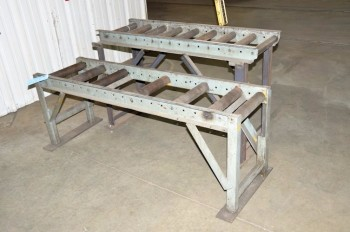 Lot-(2) Roller Conveyors