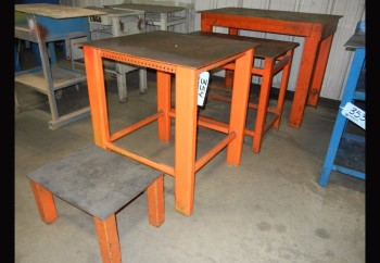 Lot-(3) Steel Stands in (1) Row
