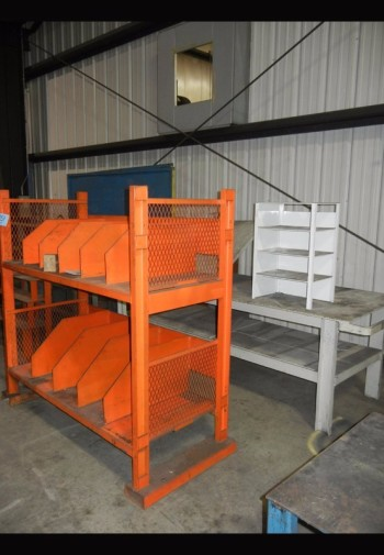 Lot-(1) Steel Stand with (1) Steel Work Table
