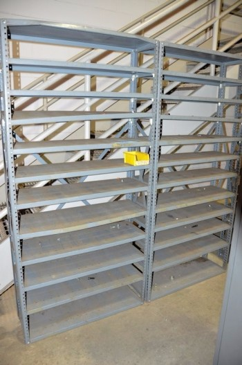 Lot-(4) Sections Shelving