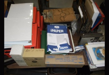 Lot-Office Supplies On/Under (1) Table (Table not included)
