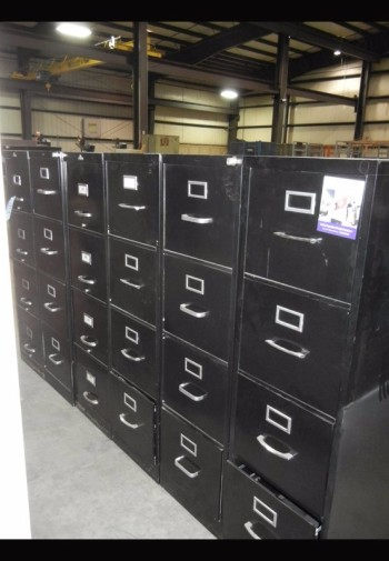 Lot-(6) 4-Drawer File Cabinets