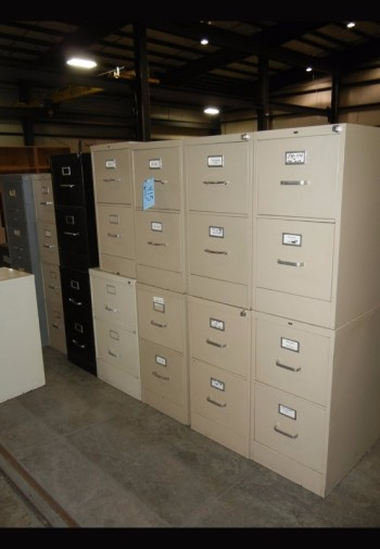 Lot-(11) 2-Drawer File Cabinets with (2) 4-Drawer File Cabinets