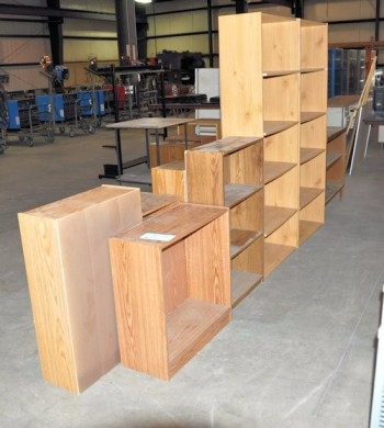 Lot-Wooden Bookcases