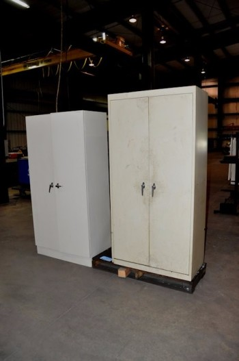 Lot-(3) 2-Door Supply Cabinets