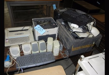 Lot-Printer, Typewriter, Paper Shredder, Keyboards and Mice
