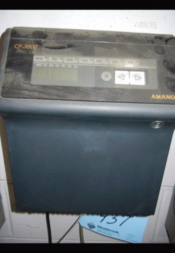 AMANO MODEL CP-3000, Time Clock with Racks