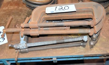 Lot-(4) C-Clamps in (1) Stack