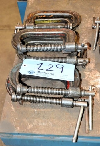 Lot-(9) 4\' C-Clamps in (3) Stacks