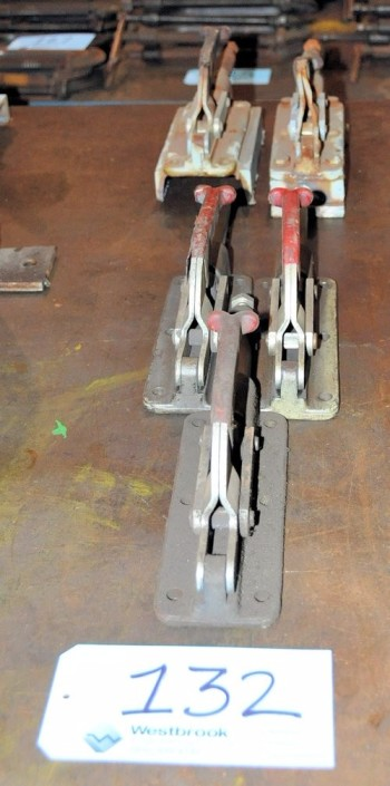 Lot-(5) Fixture Clamps in (1) Row
