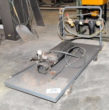 Hydraulic Pump with Cart