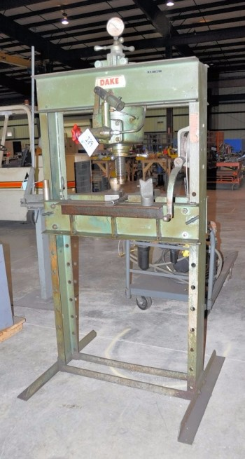 DAKE MODEL 50H, 50-Ton Capacity H-Frame Hydraulic Down Acting Shop Press