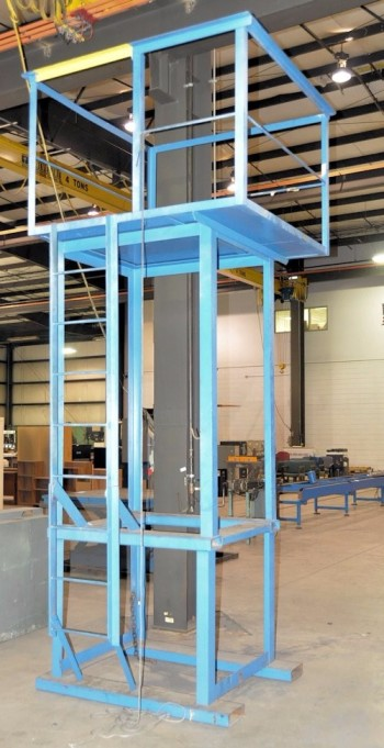 Extended Height Man Lift Platform Forklift Attachment