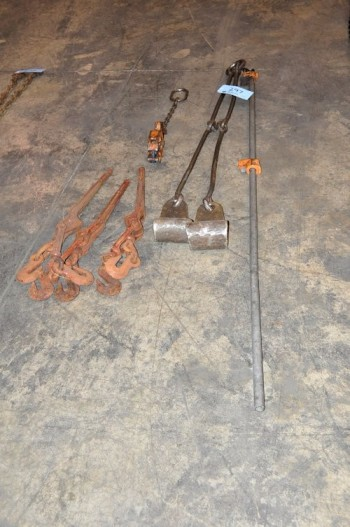 Lot-Chain Binders, Material Grabs and Bar Clamp