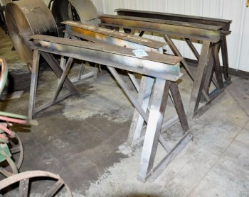Lot-(2) Pairs of 6\' Steel Work Horses