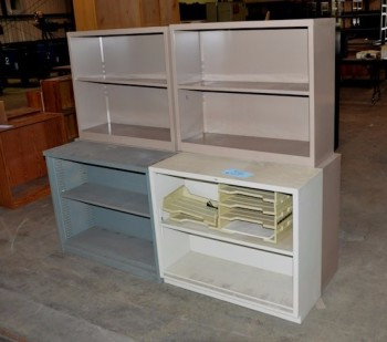 Lot-Metal Bookcases