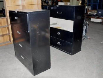 Lot-(2) 4-Drawer Lateral File Cabinets