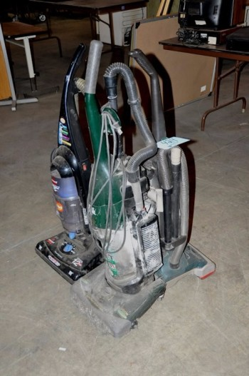 Lot-(3) Upright Vacuums