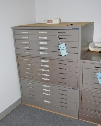15-Drawer Blueprint Cabinet