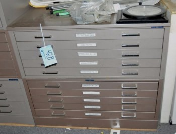 10-Drawer Blueprint Cabinet