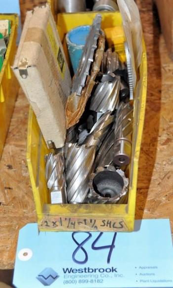 Lot-(1) Bin Hougen style cutters &(1) Bin of milling cutters