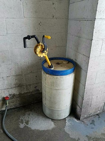 Drum and soap pump